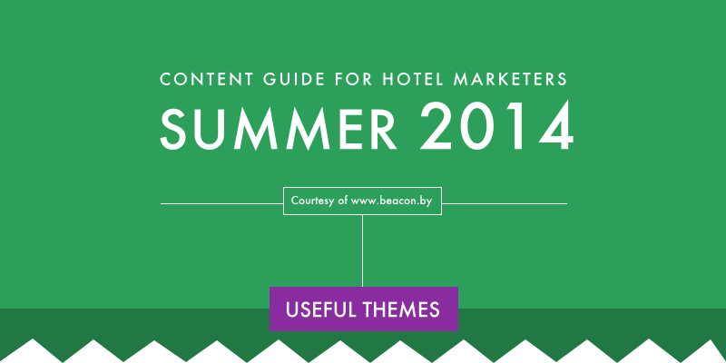 A snippet of the content marketing guide for hotels inforgraphic