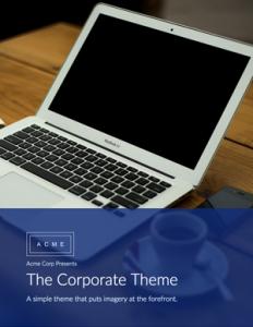 free corporate ebook template