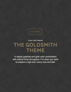 free ebook template - goldsmith