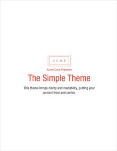 Free ebook template - simple