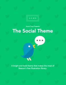 free ebook template - social