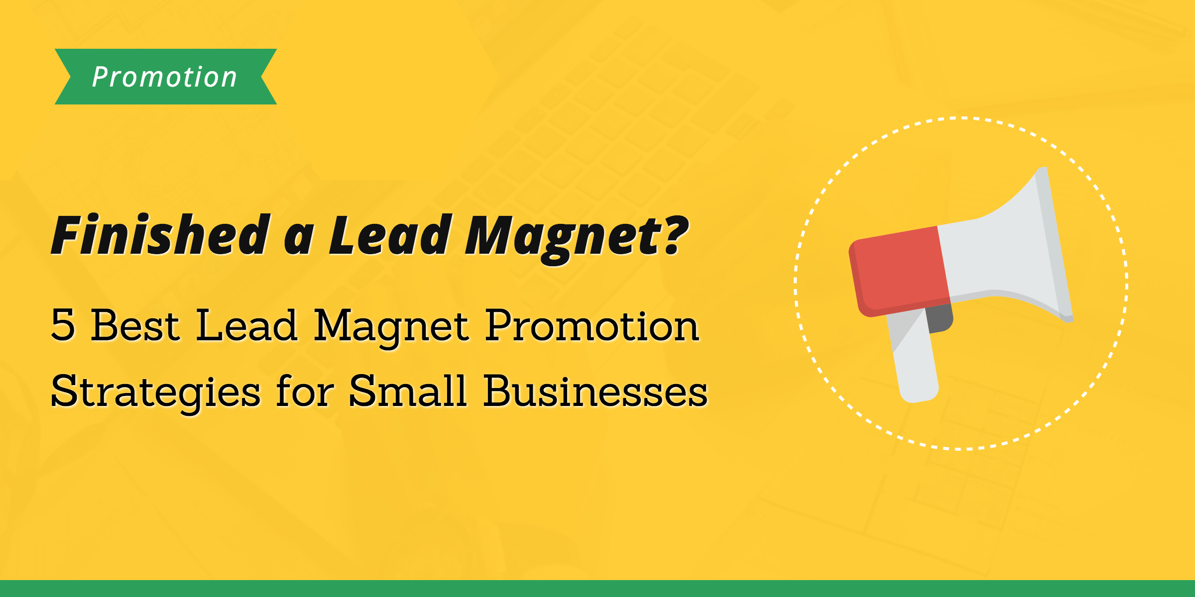 lead magnet promotion