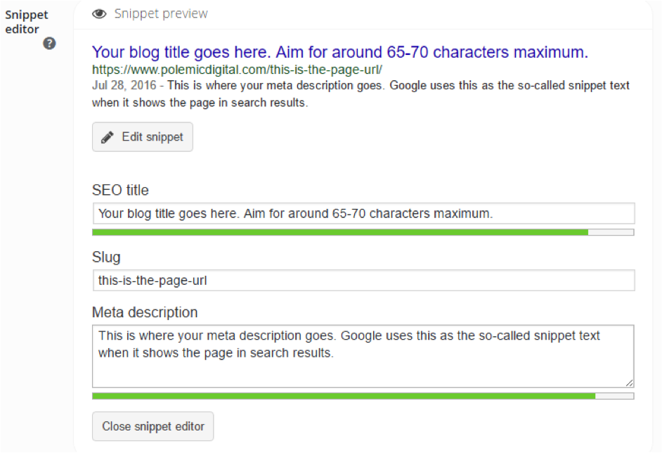 Optimising page meta data for the Beacon blog.