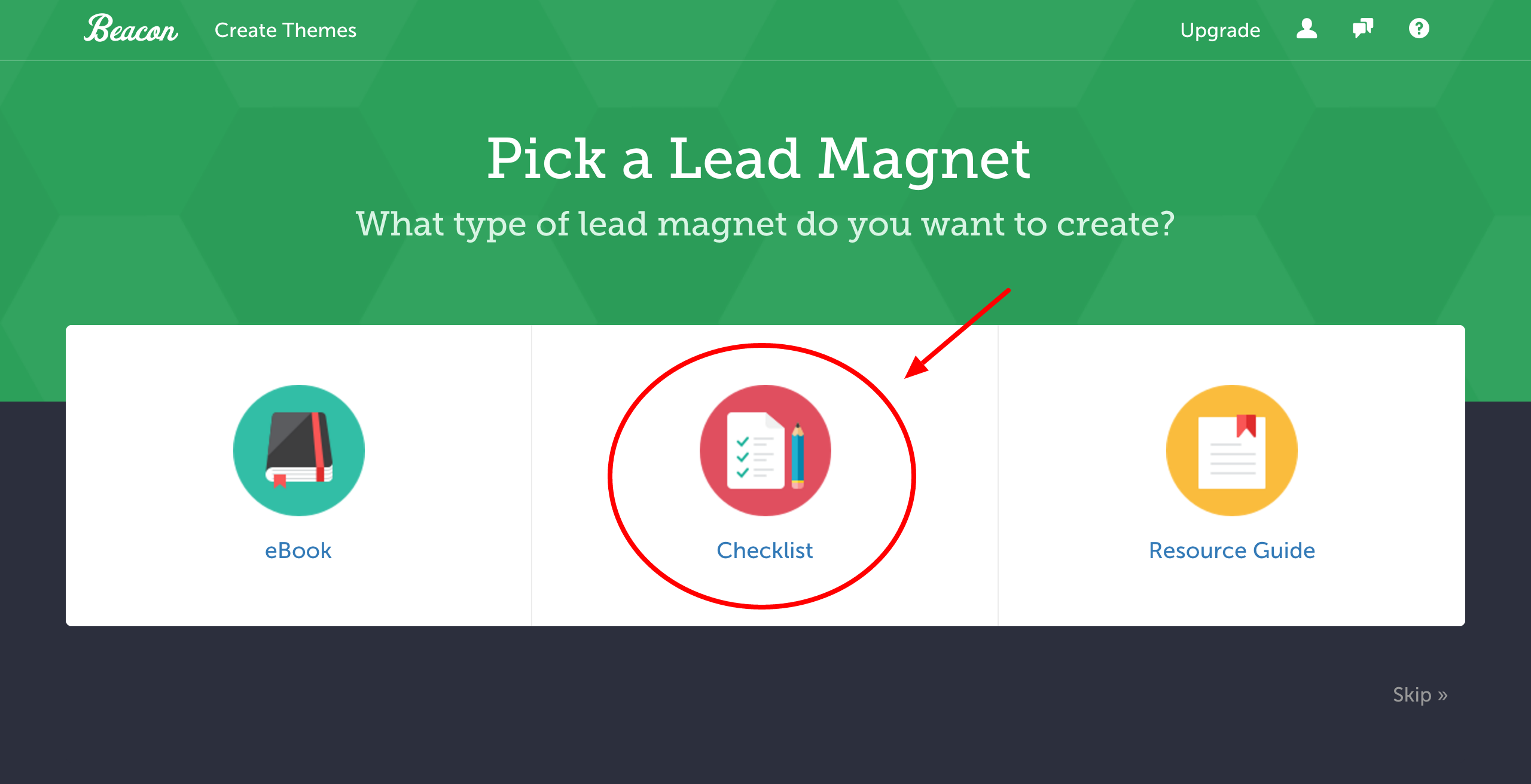 how to make a checklist lead magnet template