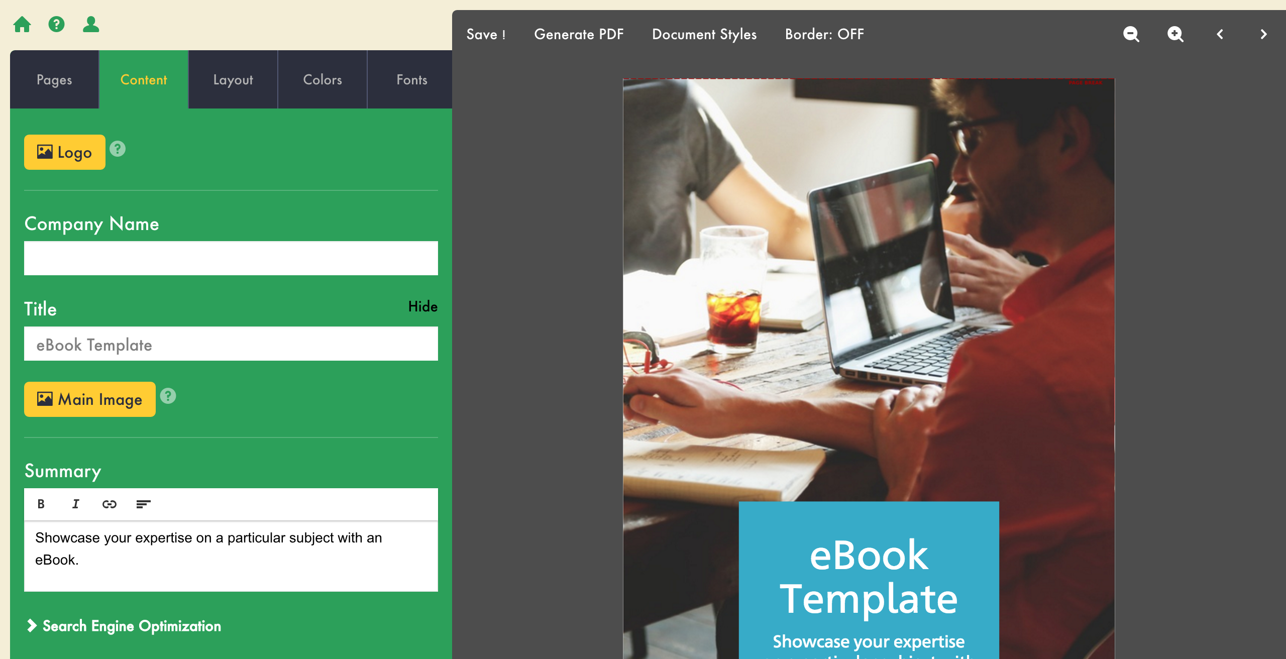 how to create an ebook lead magnet cover image
