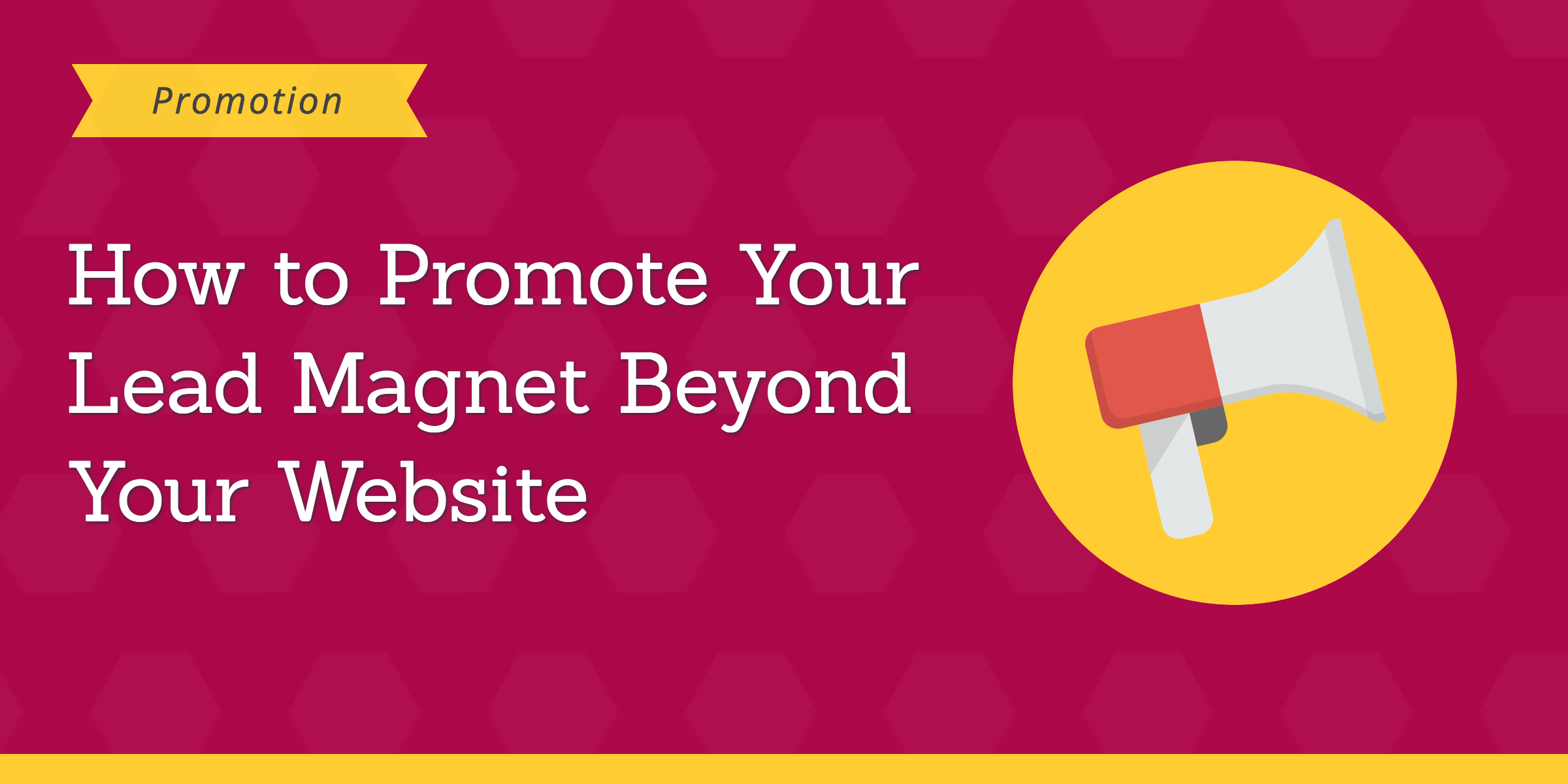 promote lead magnet beyond website