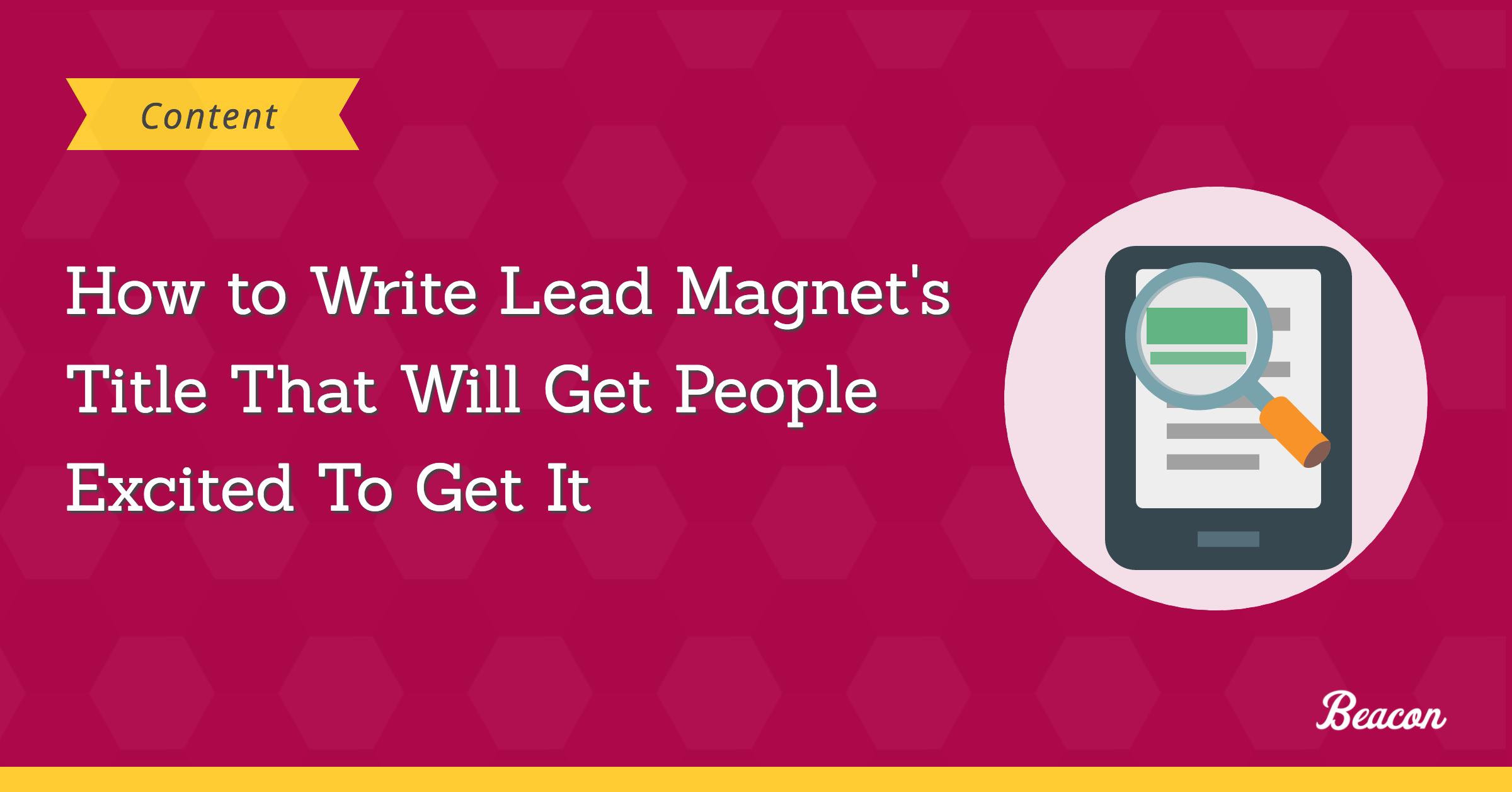 lead magnet title