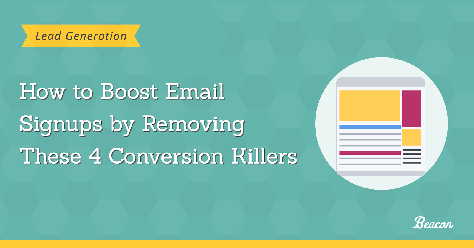 removing conversion killers to boost email signup rate