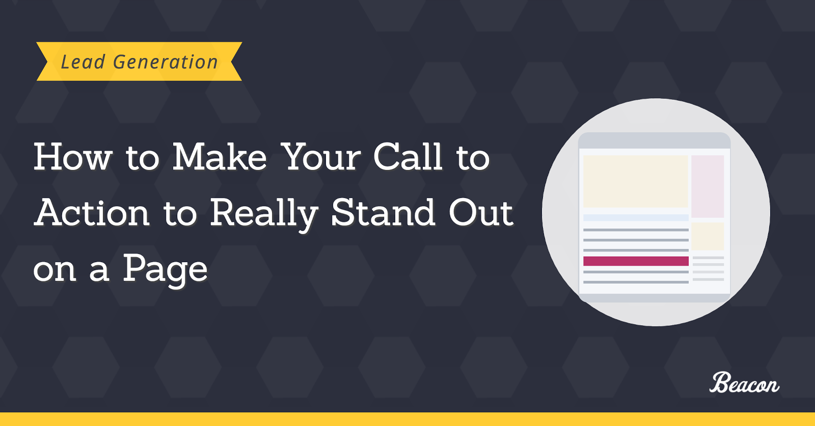 How to make call to action to stand out on a page